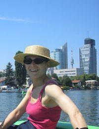 Pédalo sur un bras mort du Danube