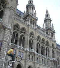 Festival de vélo devant le Rathaus