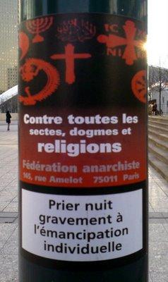 Une affiche en France