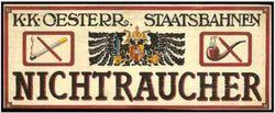 """""""Tradition, tradition..."""" il y avait pourtant bien des lieux sans tabac au temps de l'Empire Austro-Hongrois !!"""