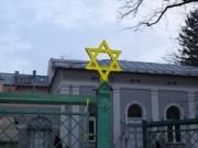 Salzburg Synagogue Jan.31, 2014 Davidstern gelb bemalt-pt