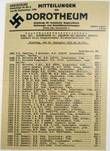 Voitures vendues aux enchères le 20 sept. 1938
