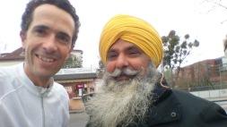 Sikh rencontré en courant que je connaissais de la gare centrale (nov 2015)